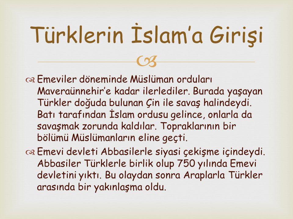 Türklerin İslam'a Girişi