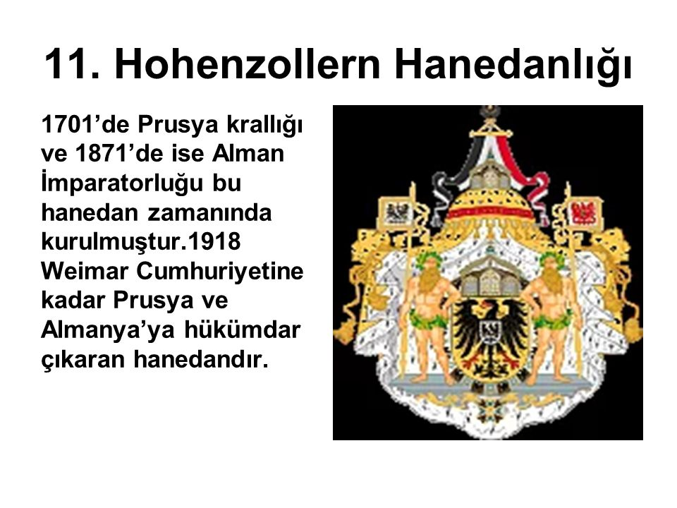11. Hohenzollern Hanedanlığı