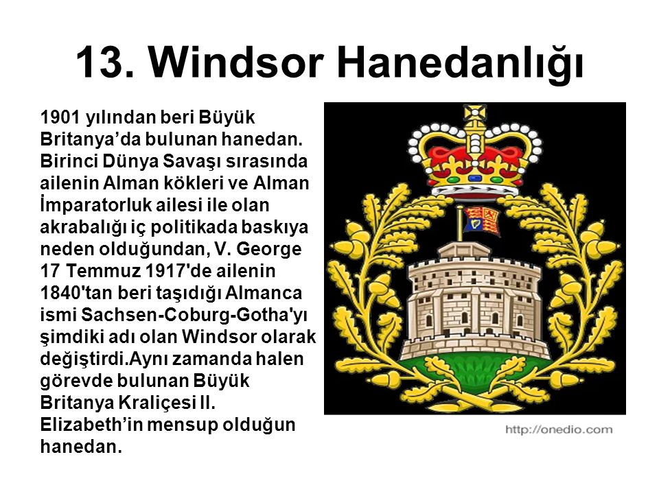 13. Windsor Hanedanlığı