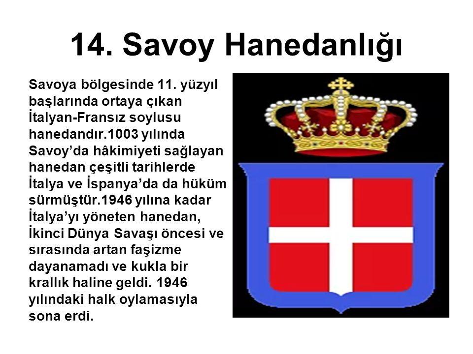 14. Savoy Hanedanlığı