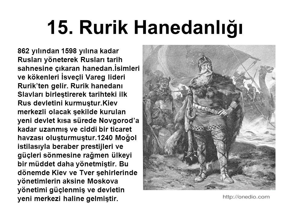 15. Rurik Hanedanlığı