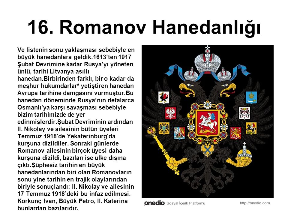 16. Romanov Hanedanlığı