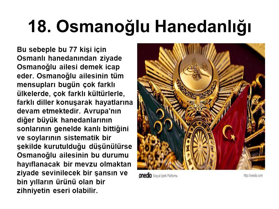 18. Osmanoğlu Hanedanlığı
