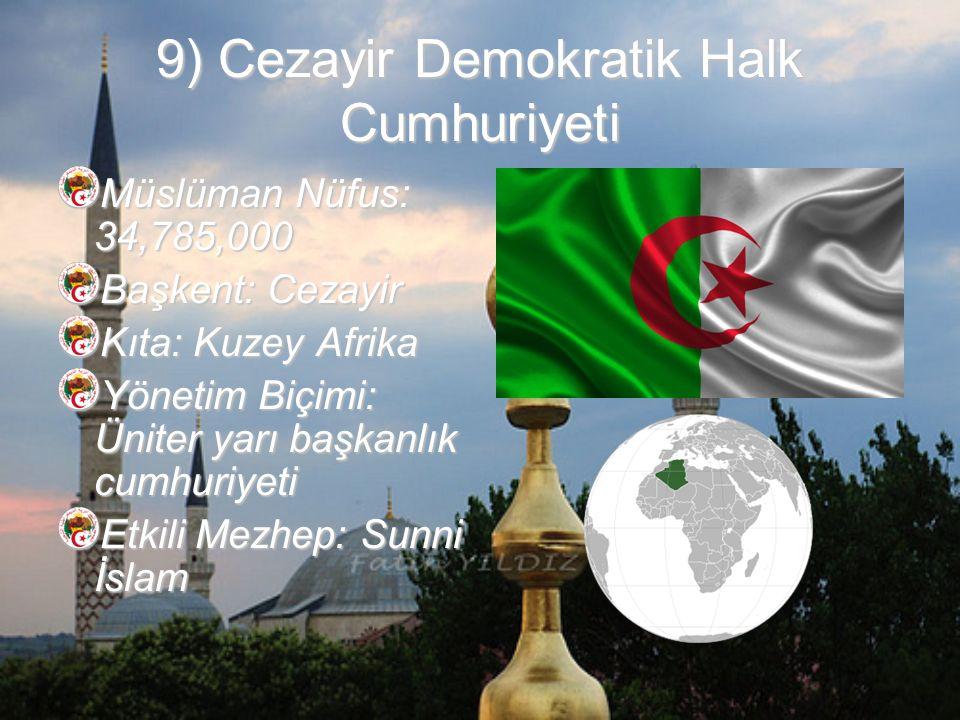 9) Cezayir Demokratik Halk Cumhuriyeti