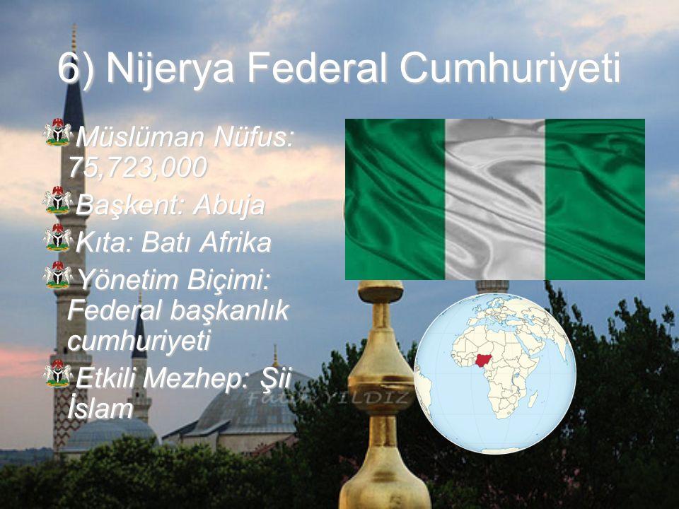 6) Nijerya Federal Cumhuriyeti
