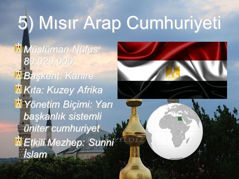 5) Mısır Arap Cumhuriyeti