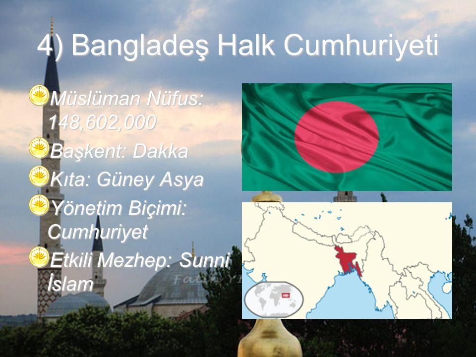 4) Bangladeş Halk Cumhuriyeti