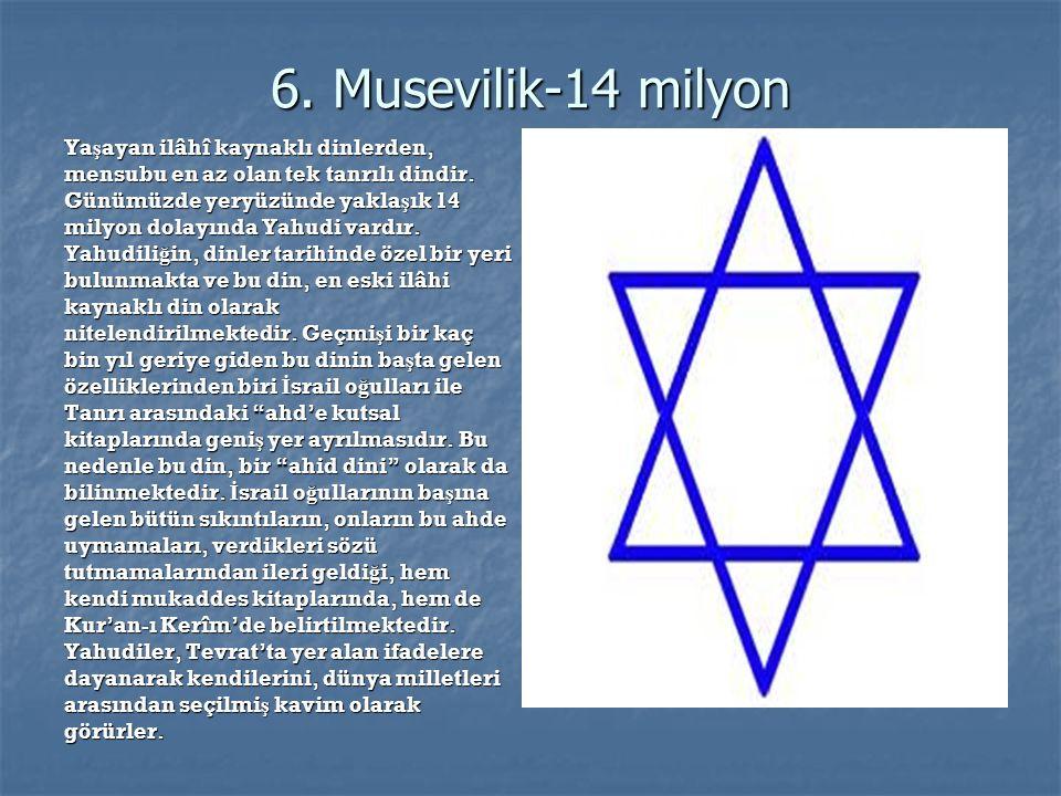 6. Musevilik-14 milyon