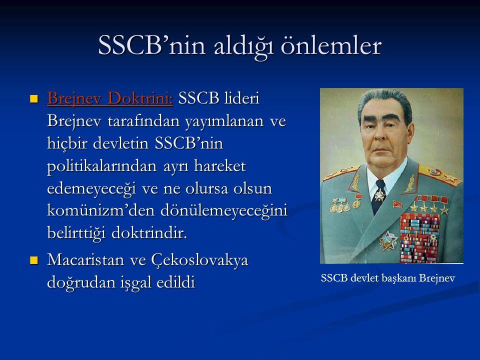 SSCB'nin aldığı önlemler