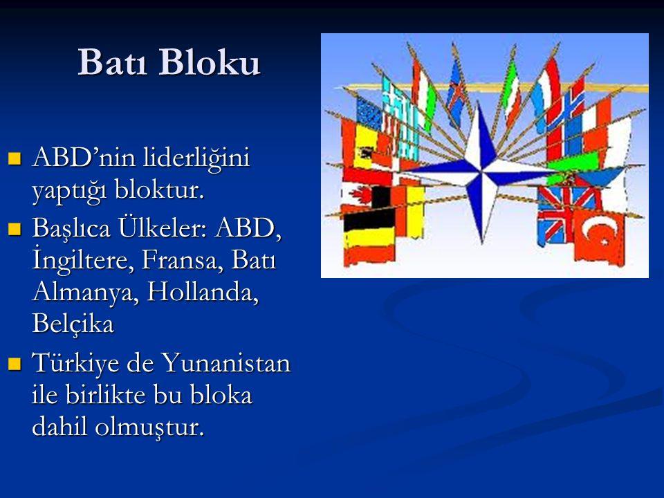 Batı Bloku ABD'nin liderliğini yaptığı bloktur.