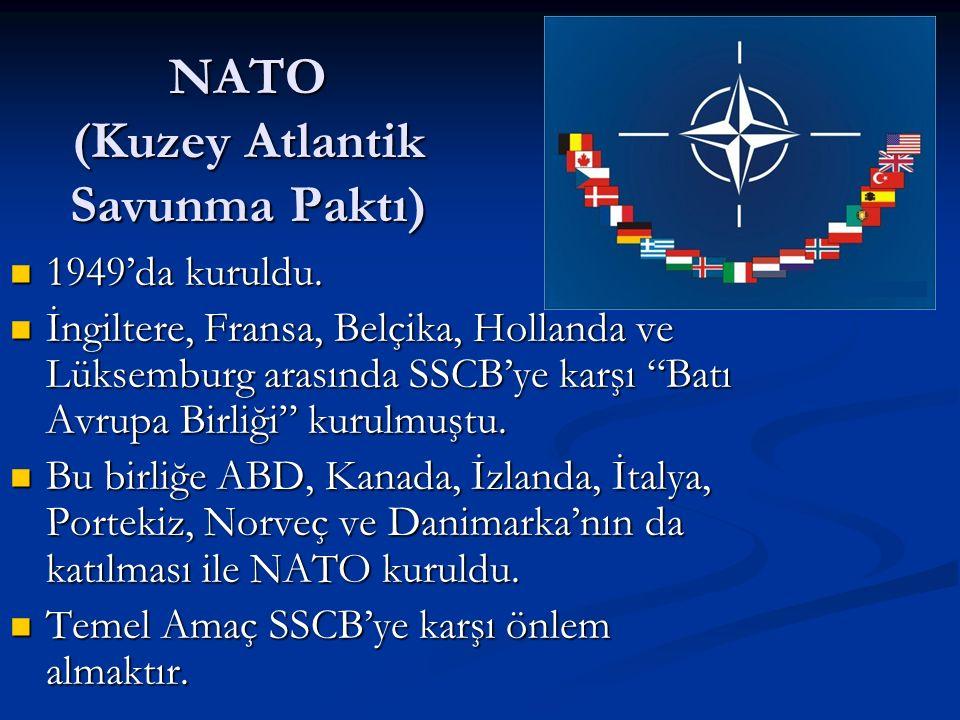 NATO (Kuzey Atlantik Savunma Paktı)