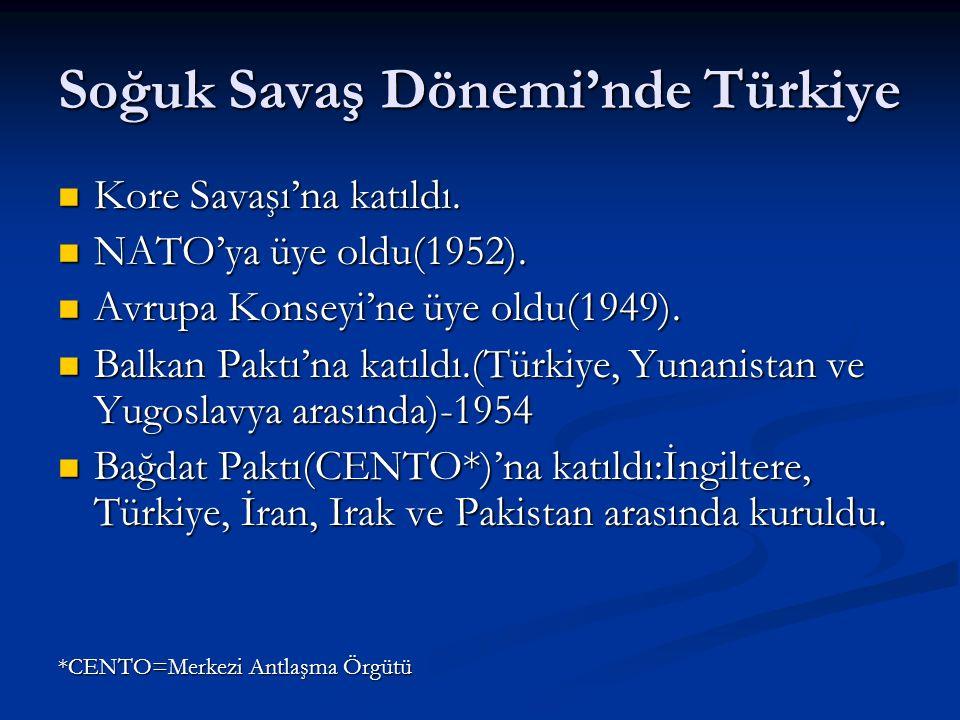 Soğuk Savaş Dönemi'nde Türkiye