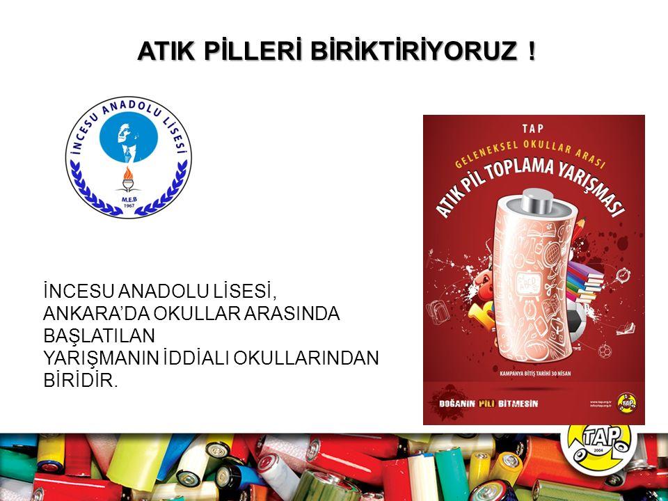 ATIK PİLLERİ BİRİKTİRİYORUZ !