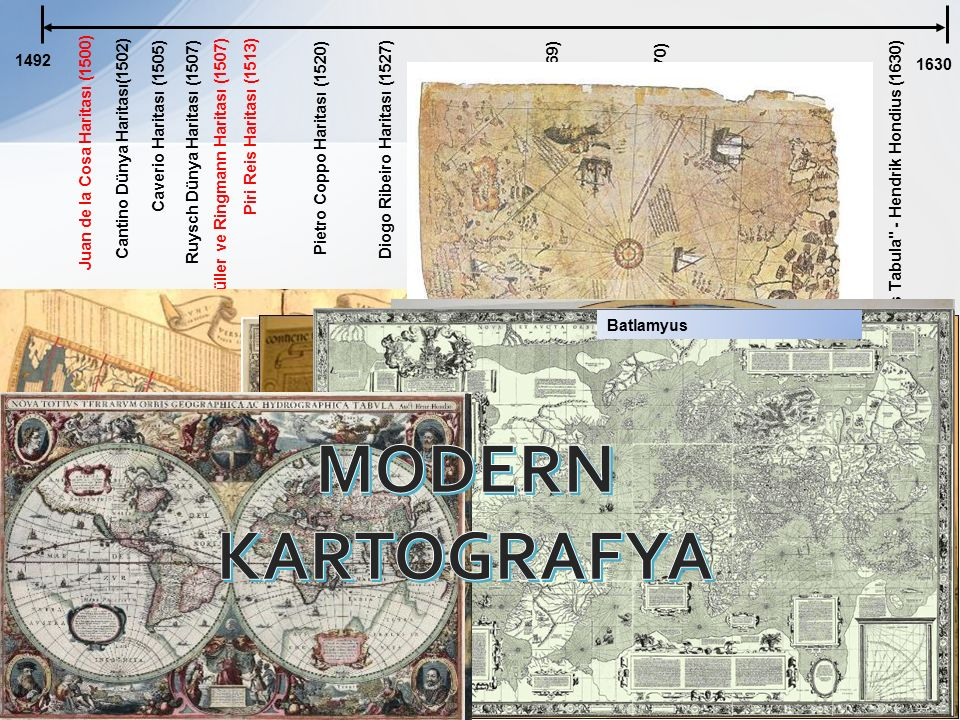 MODERN KARTOGRAFYA 1492 1630 Caverio Haritası (1505)