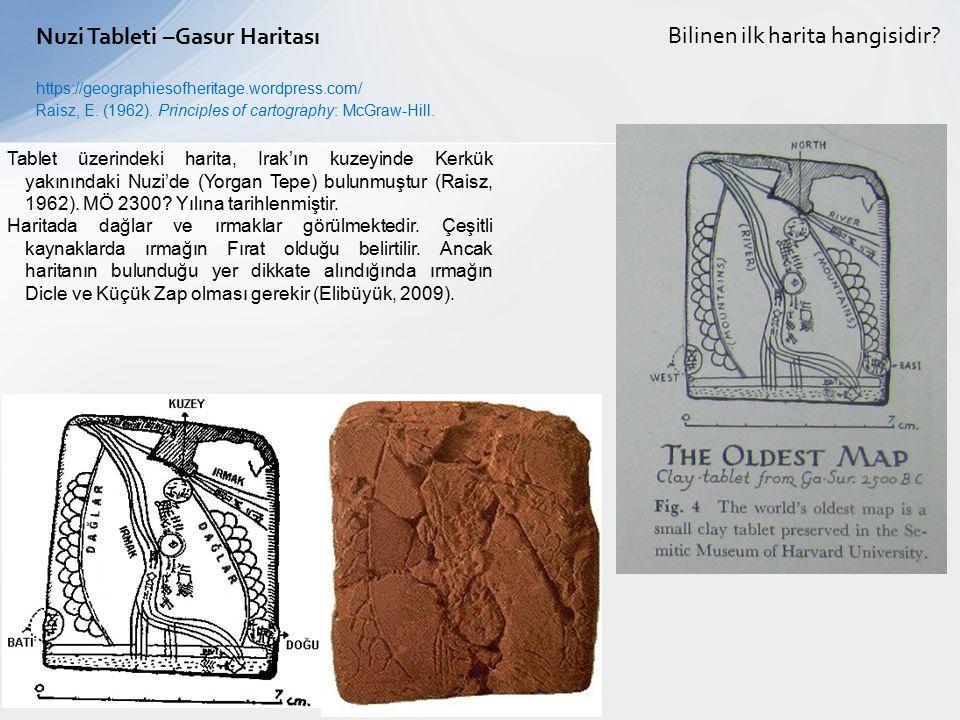 Nuzi Tableti –Gasur Haritası Bilinen ilk harita hangisidir