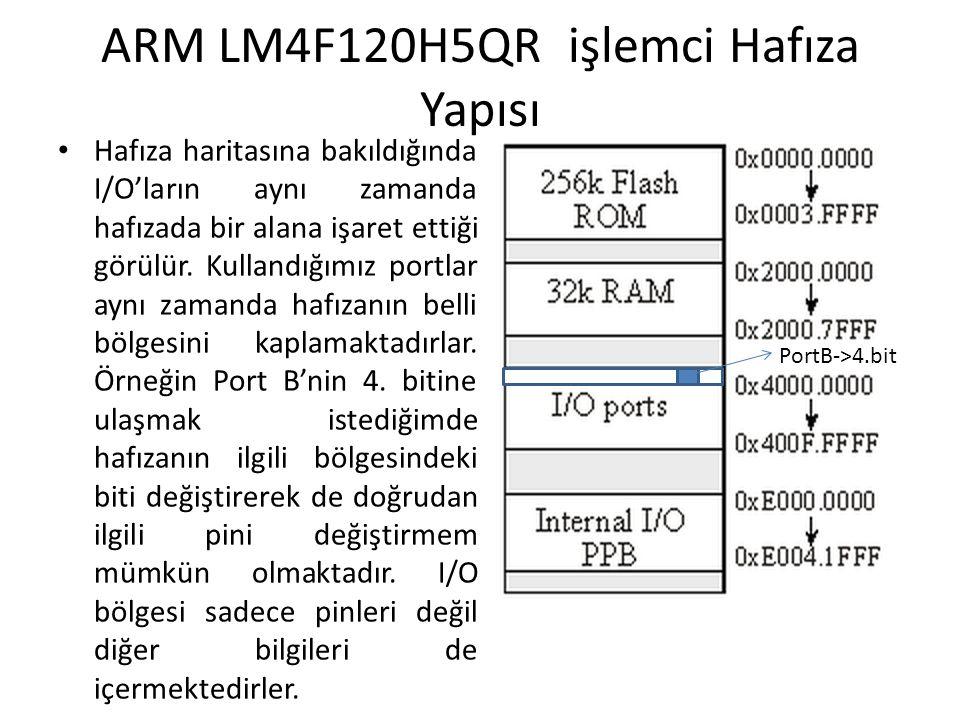ARM LM4F120H5QR işlemci Hafıza Yapısı