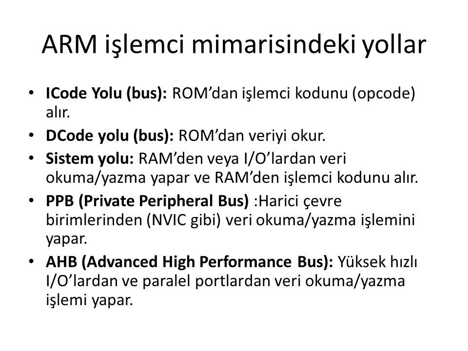 ARM işlemci mimarisindeki yollar