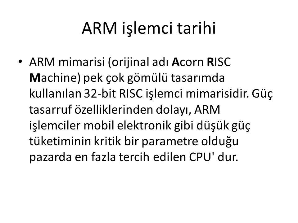 ARM işlemci tarihi