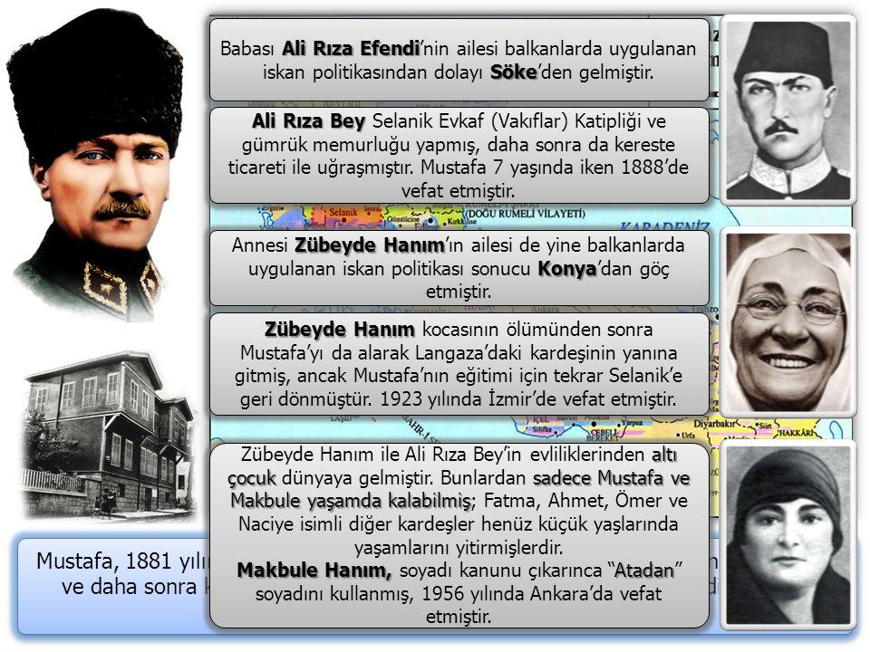 Babası Ali Rıza Efendi'nin ailesi balkanlarda uygulanan iskan politikasından dolayı Söke'den gelmiştir.