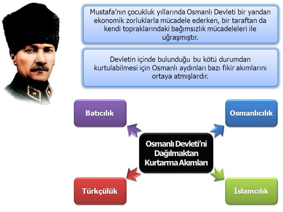 Osmanlı Devleti'ni Dağılmaktan Kurtarma Akımları