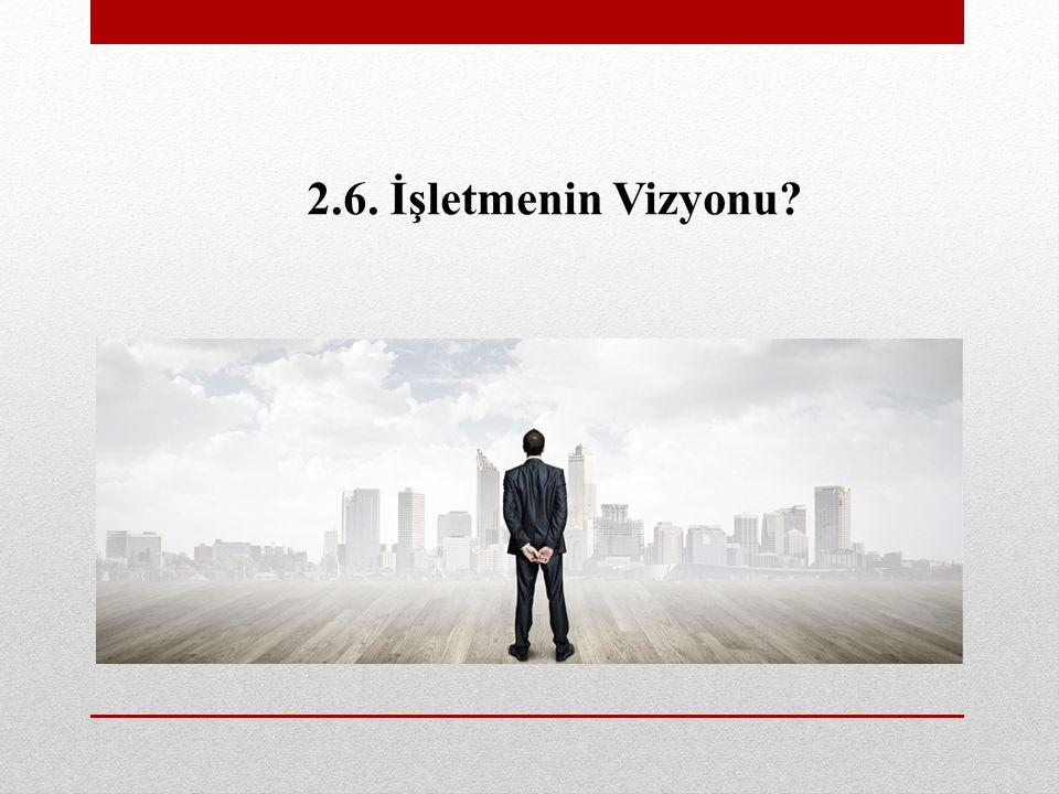 2.6. İşletmenin Vizyonu