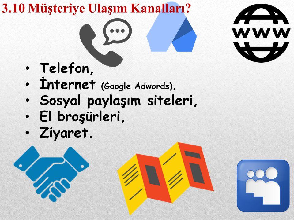 İnternet (Google Adwords), Sosyal paylaşım siteleri, El broşürleri,