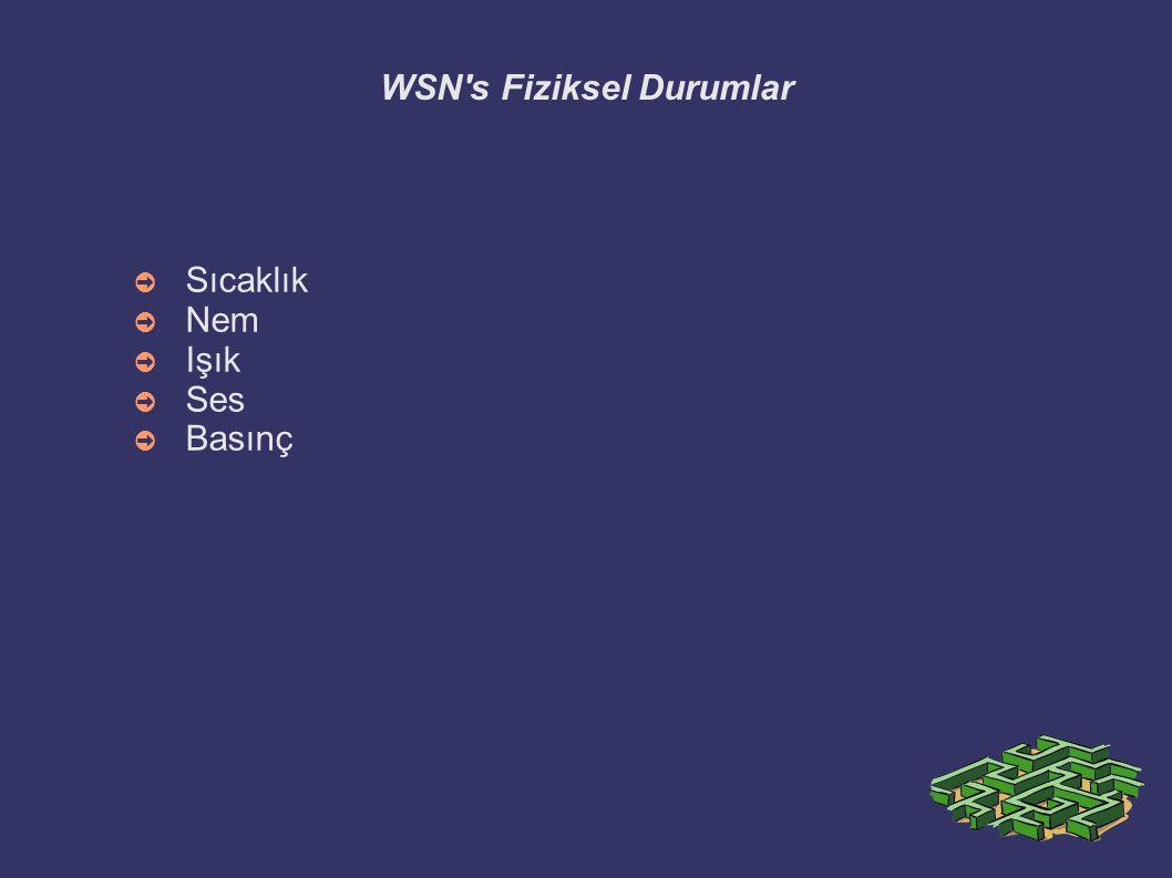 WSN s Fiziksel Durumlar