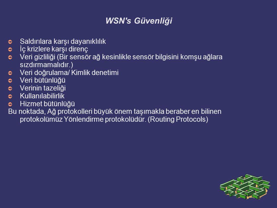 WSN s Güvenliği Saldırılara karşı dayanıklılık