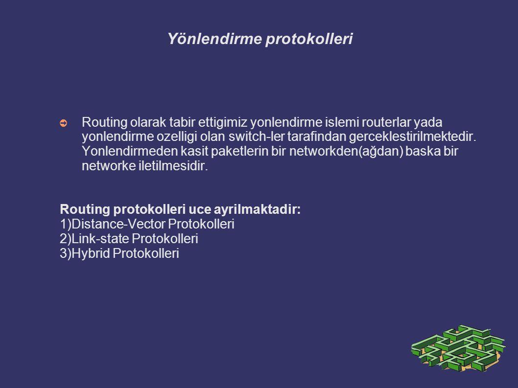 Yönlendirme protokolleri