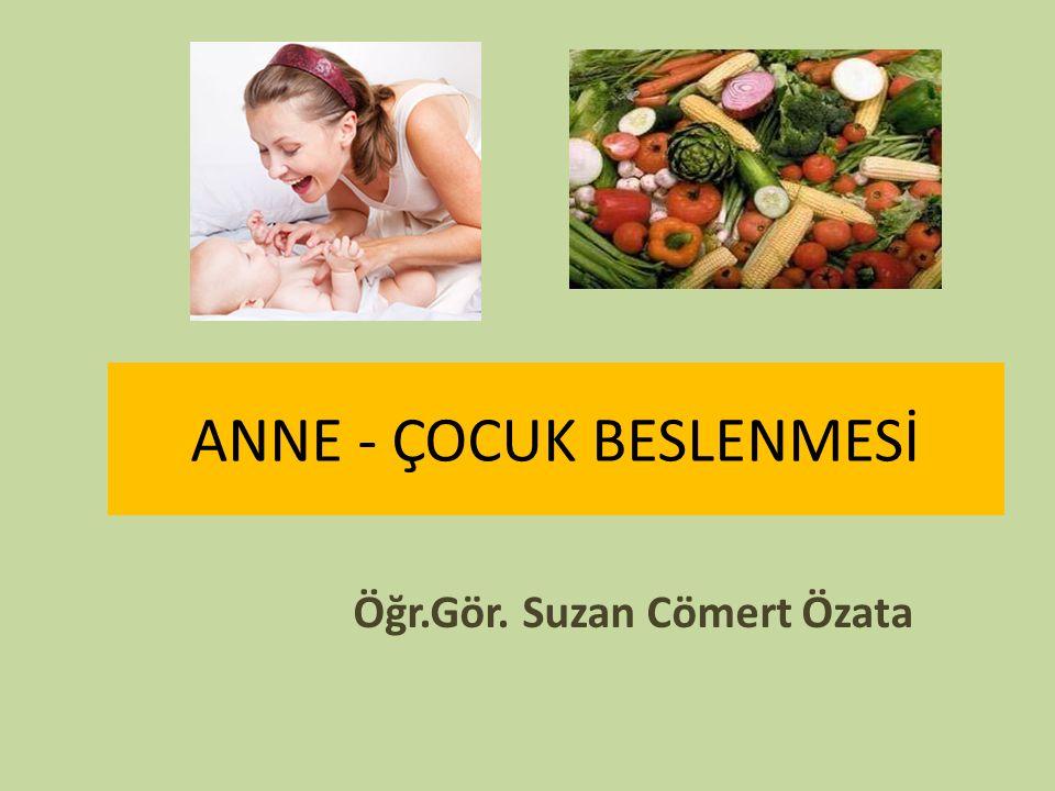 ANNE - ÇOCUK BESLENMESİ