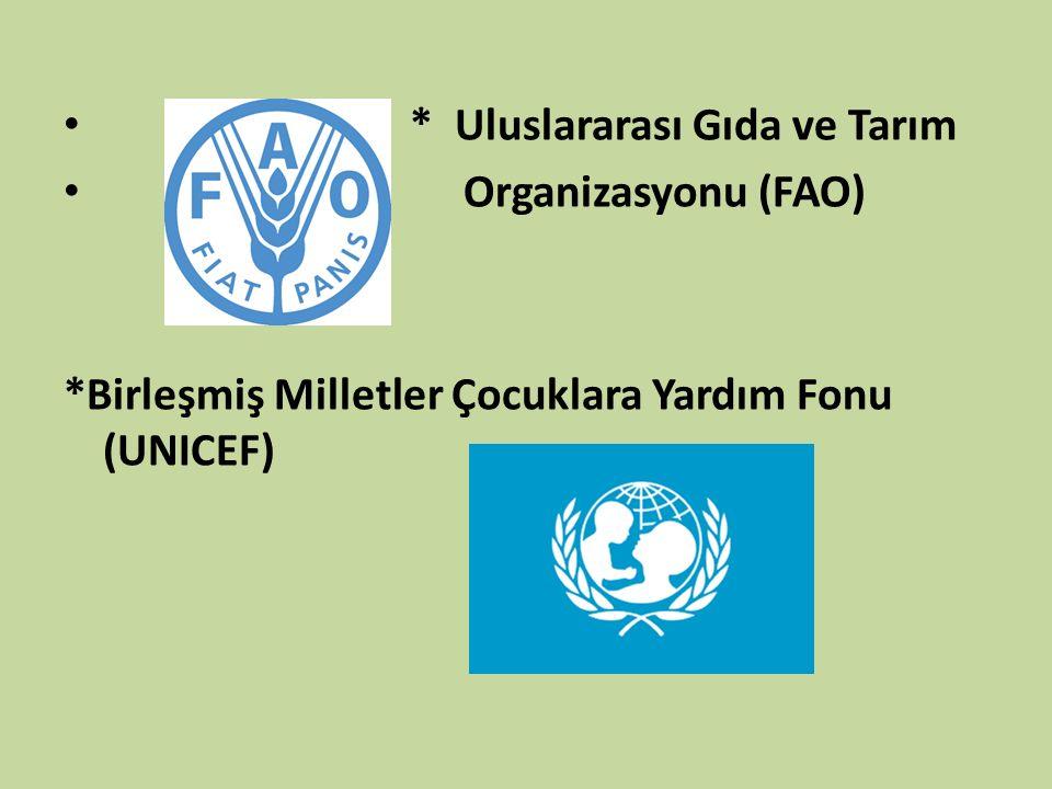 * Uluslararası Gıda ve Tarım