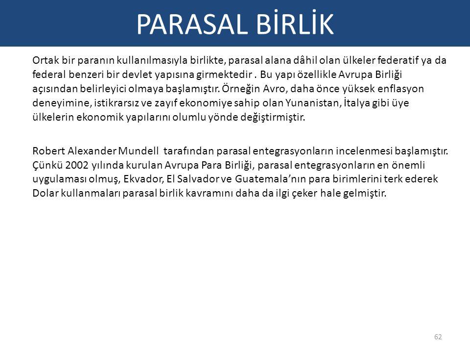 PARASAL BİRLİK