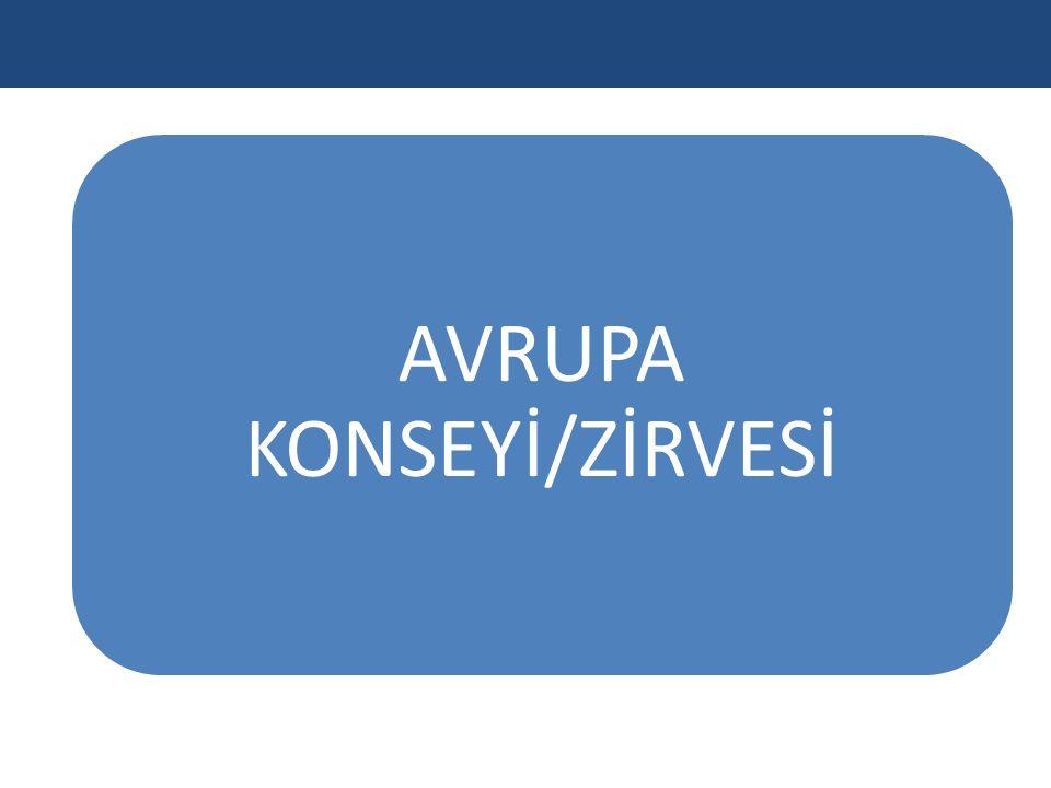 AVRUPA KONSEYİ/ZİRVESİ