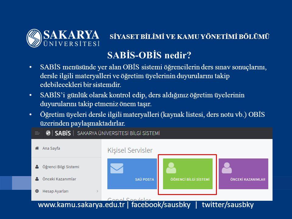 www.kamu.sakarya.edu.tr | facebook/sausbky | twitter/sausbky