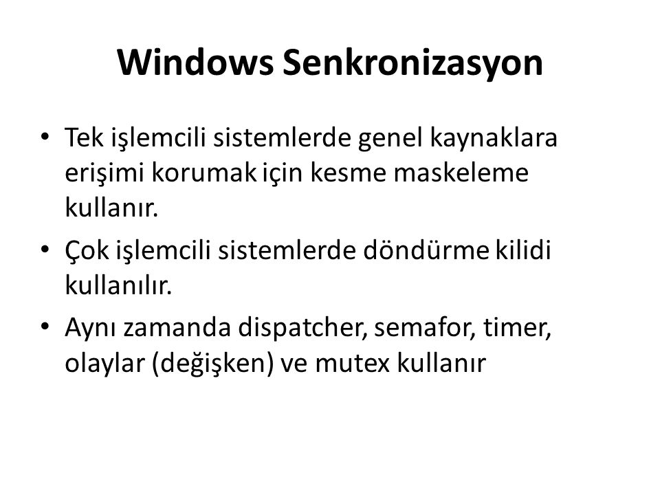 Windows Senkronizasyon
