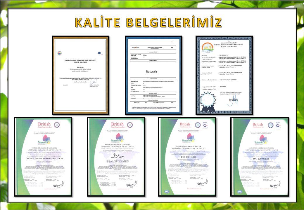 KALİTE BELGELERİMİZ