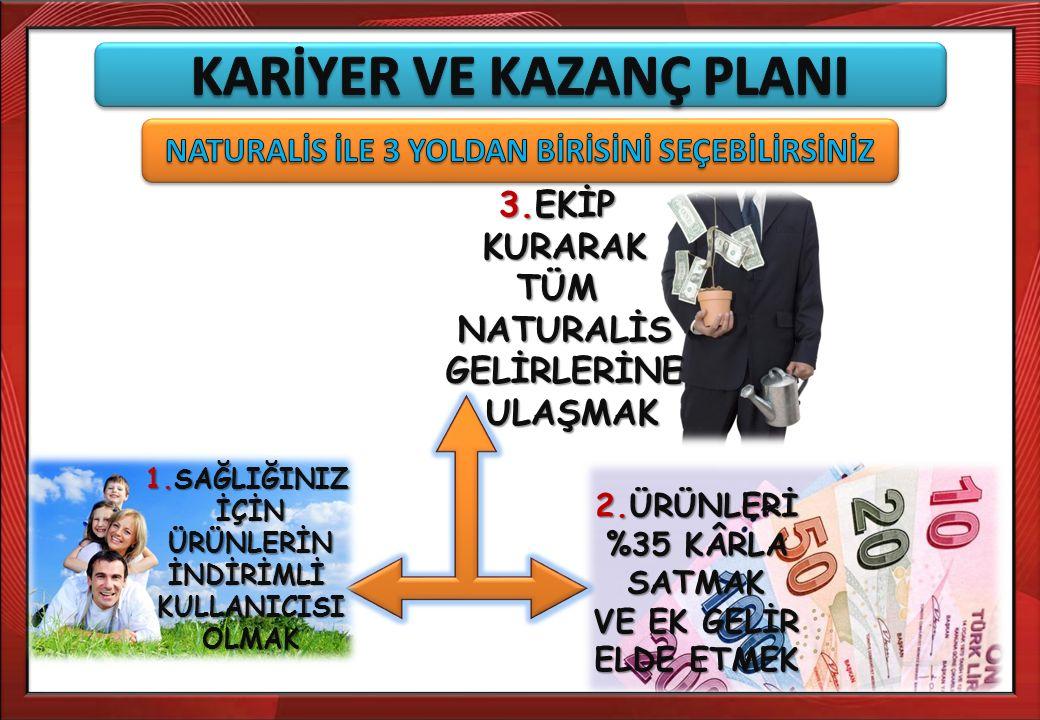 KARİYER VE KAZANÇ PLANI NATURALİS İLE 3 YOLDAN BİRİSİNİ SEÇEBİLİRSİNİZ