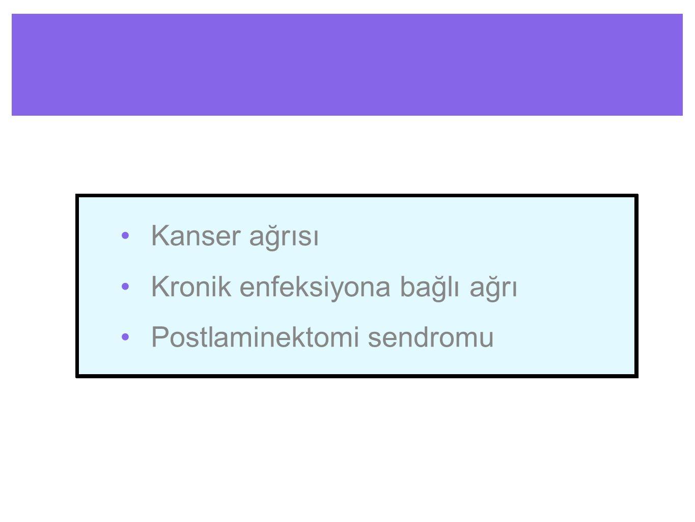 Kanser ağrısı Kronik enfeksiyona bağlı ağrı Postlaminektomi sendromu