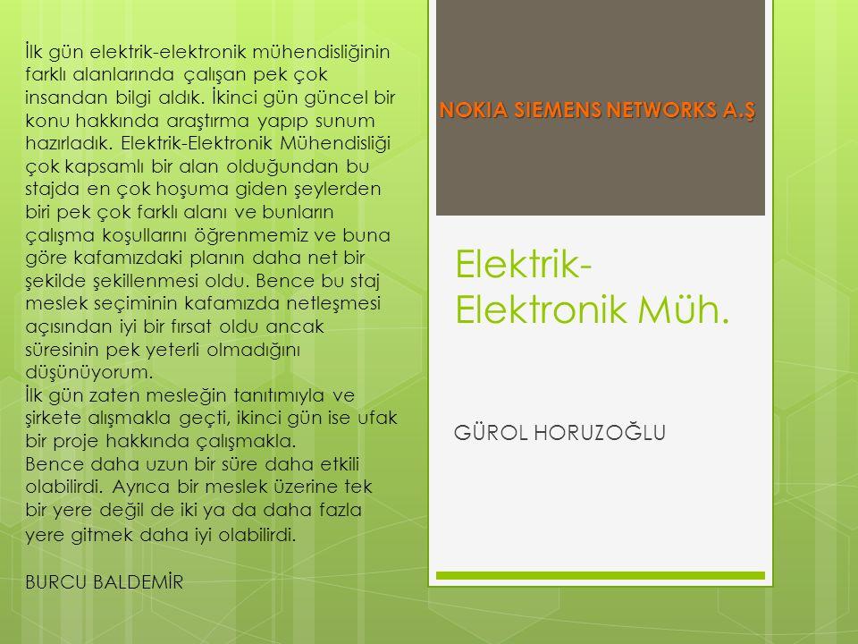 Elektrik-Elektronik Müh.