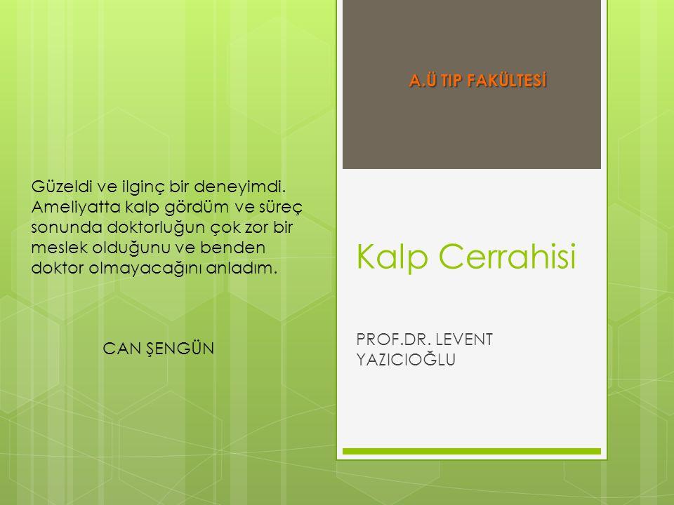 PROF.DR. LEVENT YAZICIOĞLU