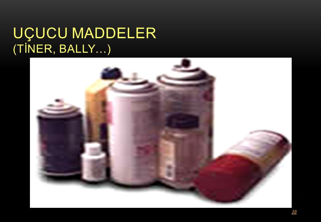 UÇUCU MADDELER (TİNER, BALLY…)