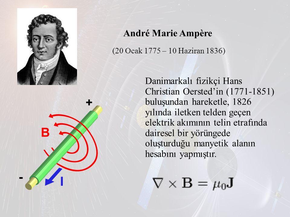 André Marie Ampère (20 Ocak 1775 – 10 Haziran 1836)