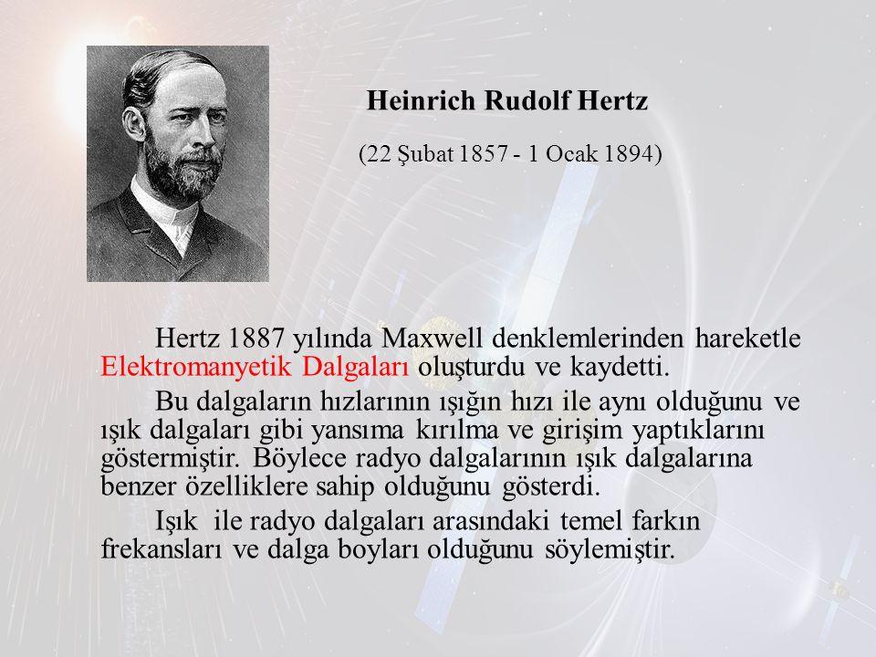 Heinrich Rudolf Hertz (22 Şubat 1857 - 1 Ocak 1894)