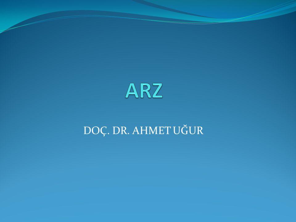 ARZ DOÇ. DR. AHMET UĞUR