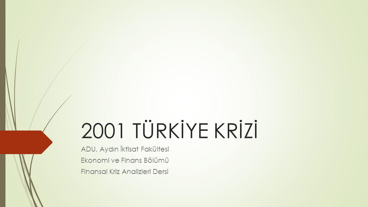 2001 TÜRKİYE KRİZİ ADU, Aydın İktisat Fakültesi