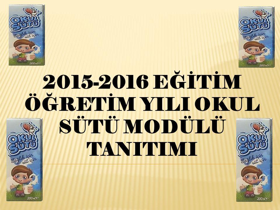 2015-2016 EĞİTİM ÖĞRETİM YILI OKUL