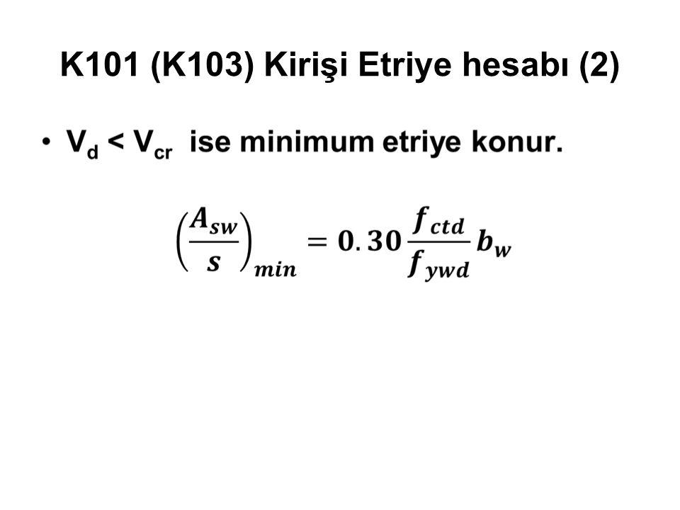 K101 (K103) Kirişi Etriye hesabı (2)