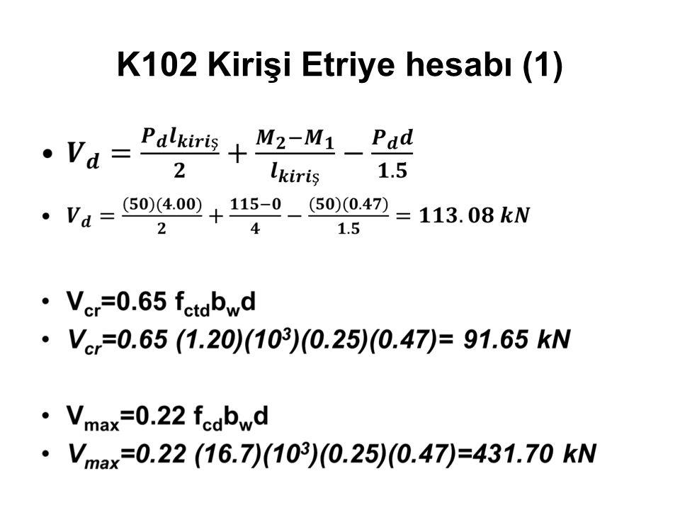 K102 Kirişi Etriye hesabı (1)