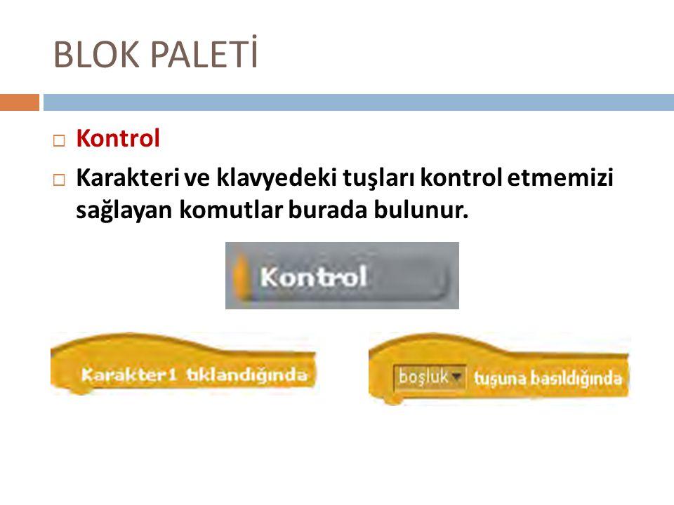 BLOK PALETİ Kontrol.