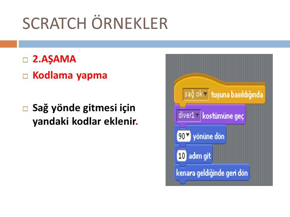 SCRATCH ÖRNEKLER 2.AŞAMA Kodlama yapma